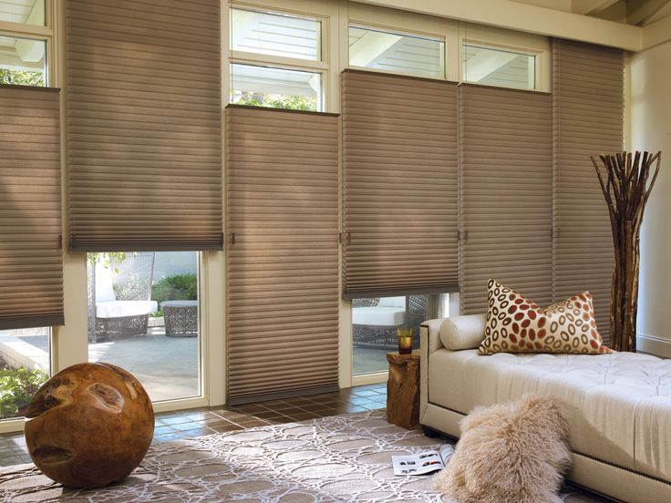Duette Honeycomb blinds feature a unique honeycomb construction that  makes these shades soft, durable, and highly energy efficient. The shades' built-in insulating characteristics help keep the heat out in summer and the  warmth in during winter. The perfect solution for windows of almost any size or shape.