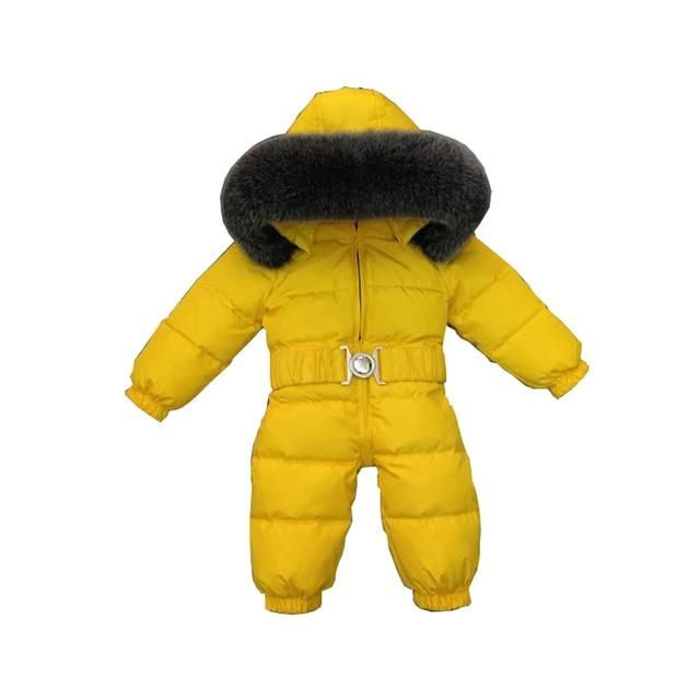 1c83fd5cd LLPLUS Toddler Infant Baby Jumpsuits Boys Girls Winter Overalls Baby  Rompers Kids Snowsuit Duck wn Children