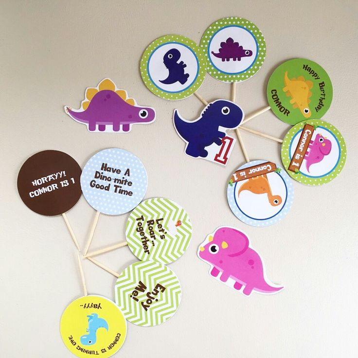 Dinoparty cupcake toppers