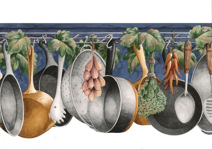 Pots Pans Spoon Rack Navy Blue 60 Feet Only
