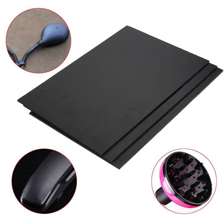 ABS Plastic Plate 30x20x0.3cm Black Styrene Flat Sheet Multi-purpose Board
