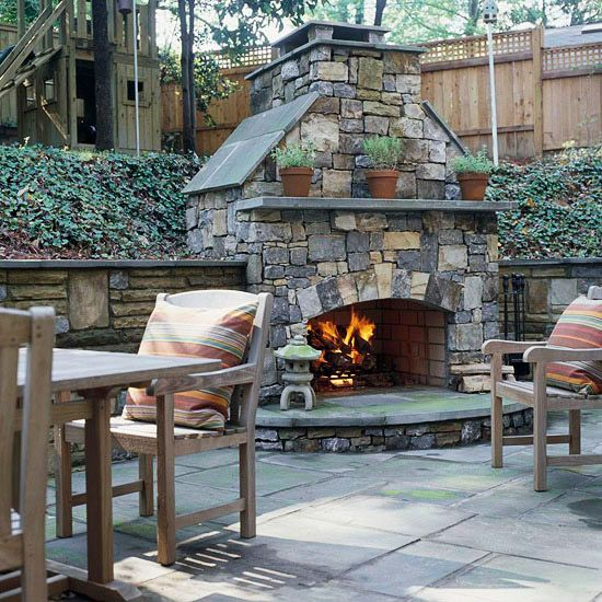 Add to a Retaining Wall: Ideas, Outdoor Living, Dream, Backyard Fireplaces, Outdoor Room, Patio, Outdoor Fireplaces, Outdoor Spaces, Fire Places