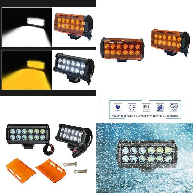 2pcs 7'' 36W LED Light Bar Offroad Town fog lights Spot Work 12v Boat SUV Truck #Doesnotapply