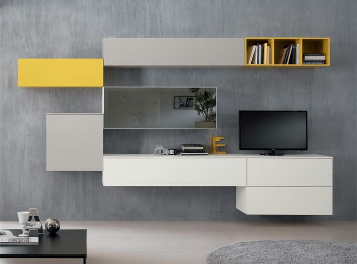 Modern Italian Wall Unit Exential Y19 by Spar - $5,899.00