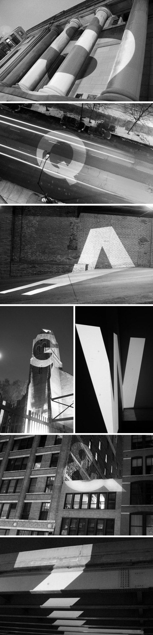 Letters At Large By Audra Hubbell Large Projections Of Letters With Cool Effects Against Architecture