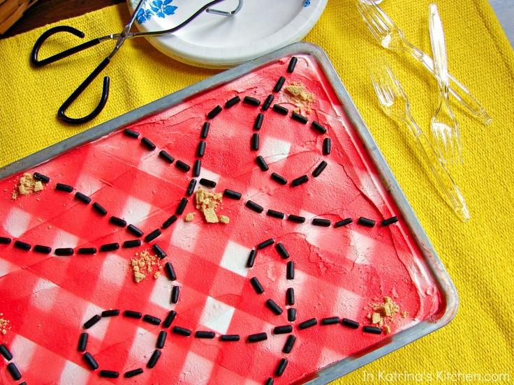 Memorial Day Picnic Table Cookies @KatrinasKitchen