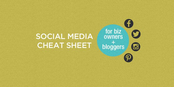 If you want to use social media to grow your business, but are a little stumped with what to do and when, this social media cheat sheet is for you!