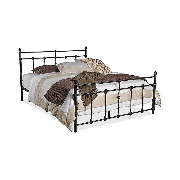 belinda chic iron metal platform bed 369 liked on polyvore featuring home