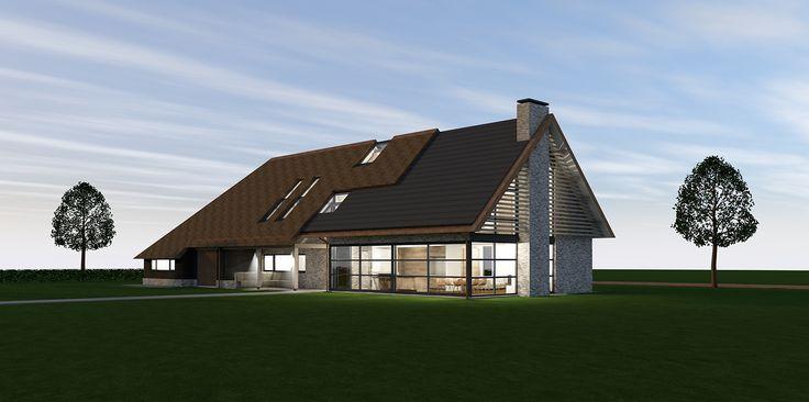 Nieuwbouw moderne langgevelboerderij te Reusel - Lauwers Ontwerp