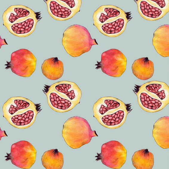 Pomegranate pattern by Marina Molares