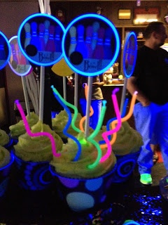 Cosmic Bowling Party Printables, they glow under the black light!