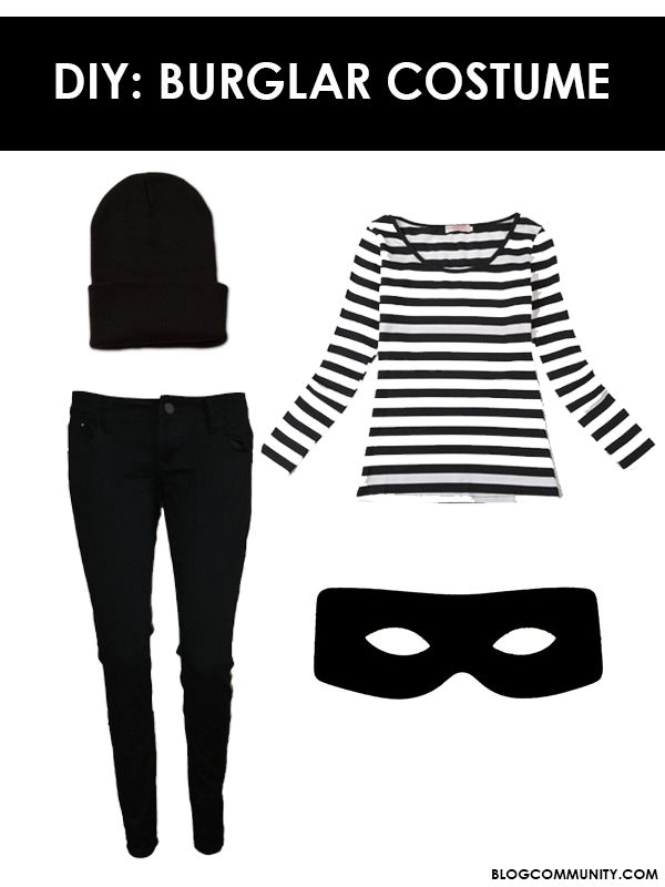 Easy Halloween Costume - A burglar, love this simple costume for fancy dress Halloween or any type of costume party. LifeNow.Rocks