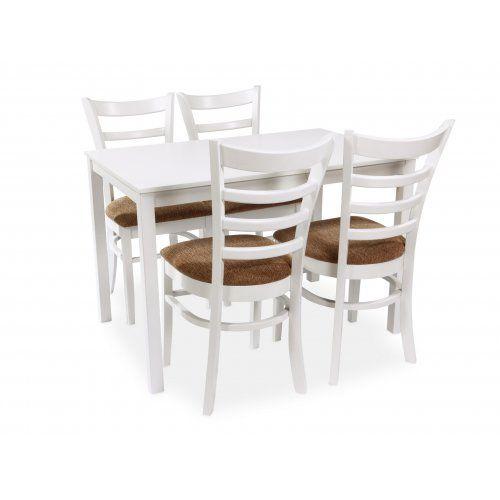 Обеденная группа для столовой и гостиной Mr. Kim Стол ES 2 (wh)+стулья ES2000(wh)