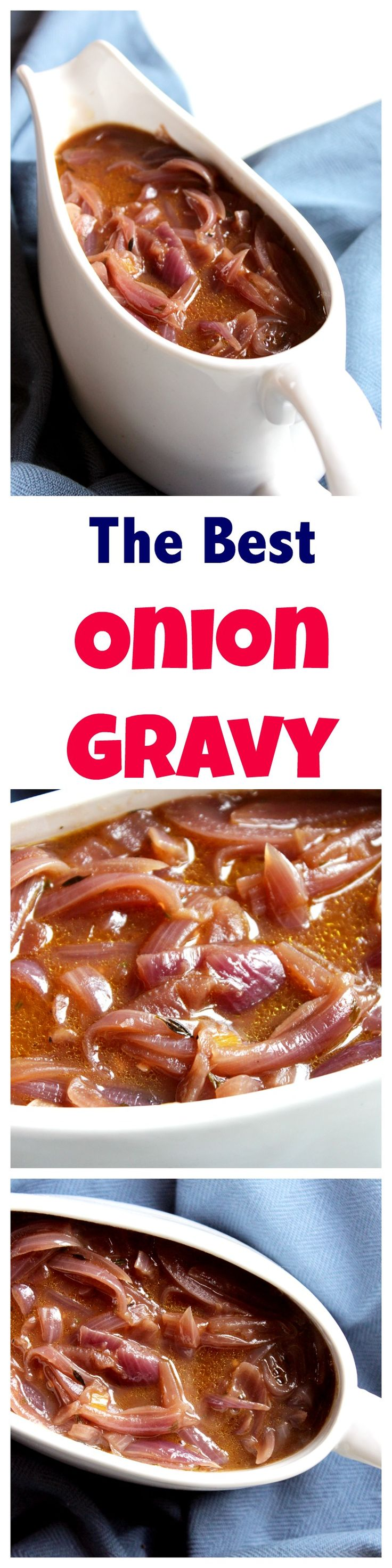 This onion gravy is a perfect accompaniment to bangers and mash, toad in the hole or a Sunday roast. Made from scratch and full of flavour.  Vegetarian gravy | Red onion gravy | Thanksgiving side dish | Christmas side dish | gravy from scratch #redoniongravy #thanksgivingsidedish #christmassidedish