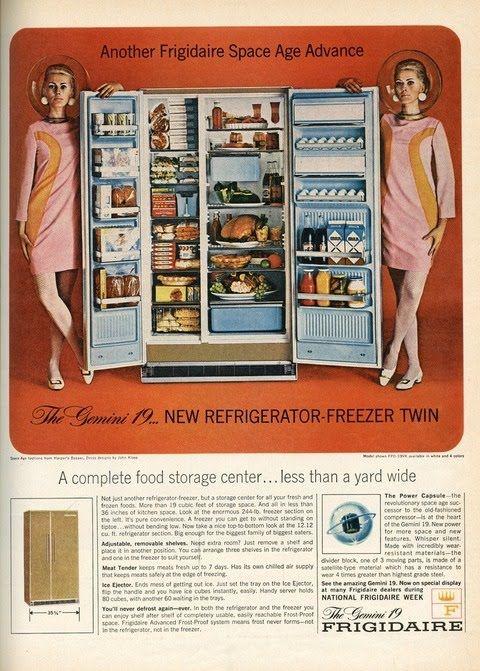Publicité futuriste années 50/60 http://www.vivelapub.fr/le-retrofuturisme-dans-la-pub/