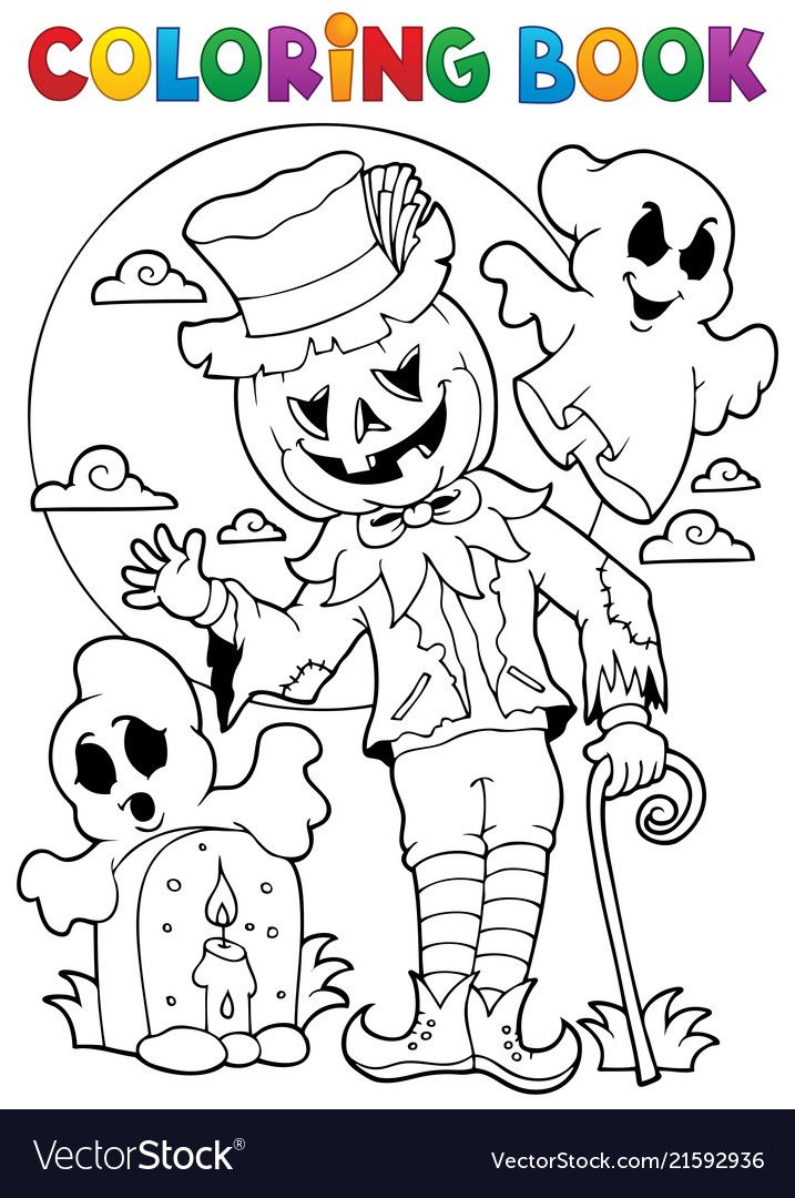 Coloring Book Halloween Character 9 Eps10 Vector Illustration Download A Free Preview Dibujos De Halloween Halloween Para Colorear Actividades De Halloween