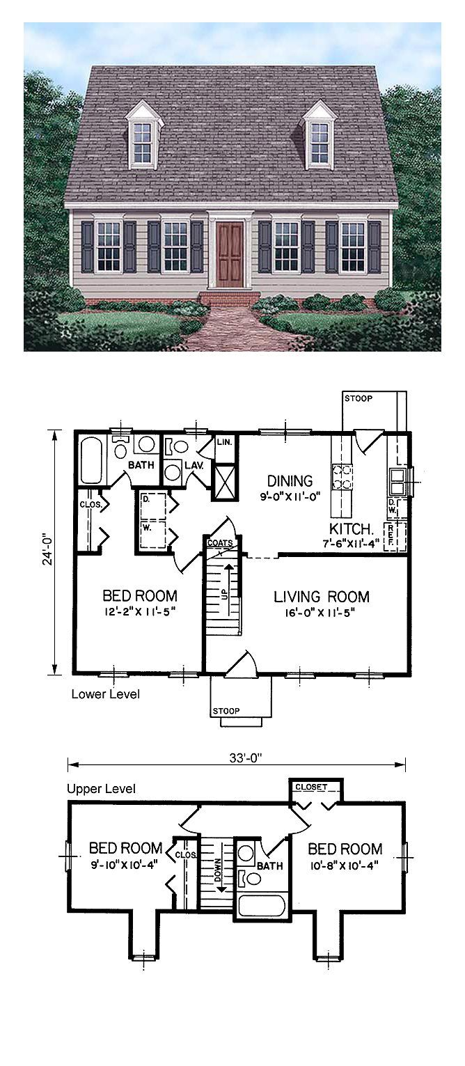Small Cape Cod House Plans Under 1000 Sq Ft In 2020 Cape Cod Style House Cape Cod House Plans Cape Style Homes