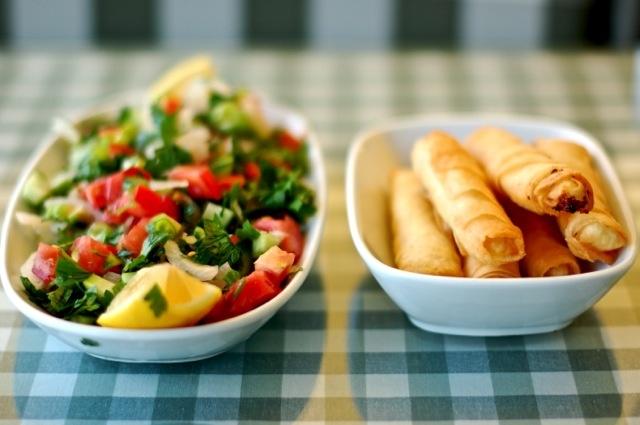 çoban salata ve sigara böreği