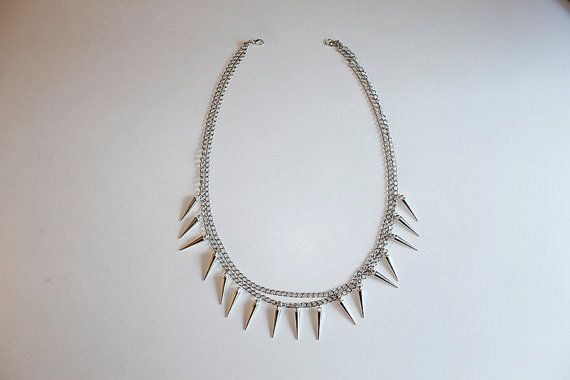 Handmade icicle necklace.