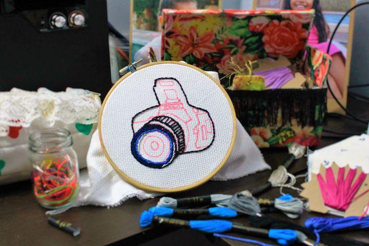 """proceso creativo"""" bordando una nueva cámara """""""