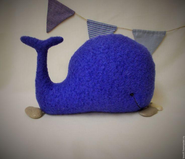 """Купить Игрушка - подушка """"Кит Василёк"""". - васильковый, кит, игрушка-подушка кит, китинтерьер"""