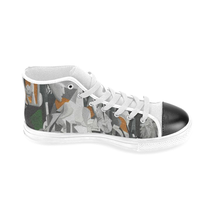 My Picasso Serie:Guernica Men's Classic High Top Canvas Shoes (Model 017)