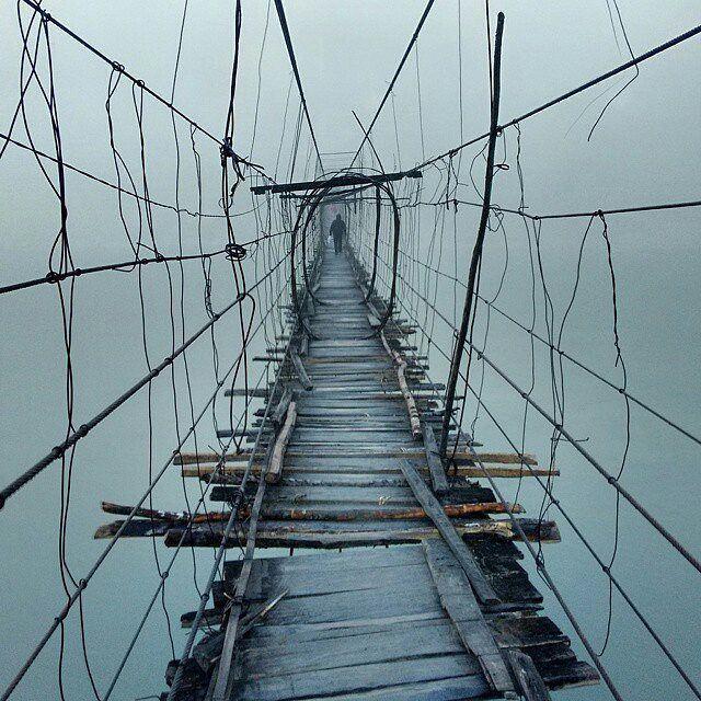 """""""One of those many hanging bridges in Central Arunachal Pradesh this one…"""