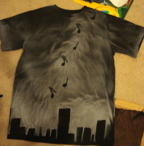 44 best spray paint shirts images on pinterest paint for How to bleach at shirt