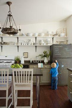 Idee intelligenti per la cucina a the36thavenue.com dipingi il tuo frigorifero con la vernice lavagna