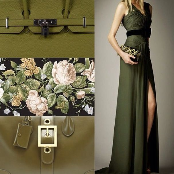PreFall13 Burberry Olive Green