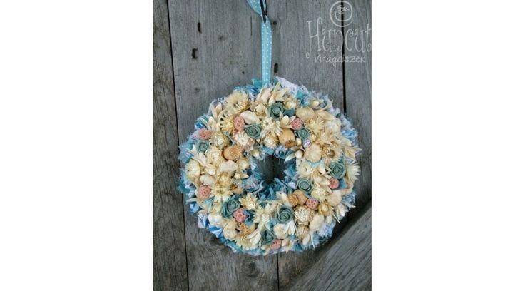 Blue wreath / Mesés kékség otthon dekoráció