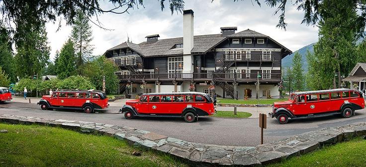 Lake McDonald Lodge, Montana  Historic Red Buses