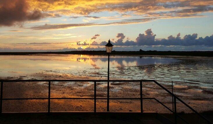Zonsondergang bij Marina aan 't wad #waddenzee
