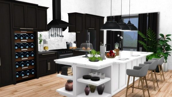 Simsational designs: Mina Kitchen Contemporary Shaker-Style ...