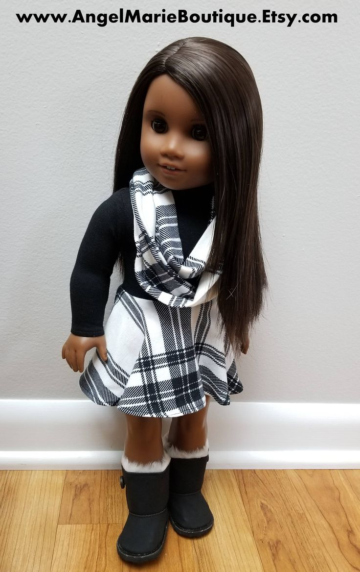 Fit and Flare Mini Dress with Infinity Scarf for 18 inch dolls such as American Girl Dolls