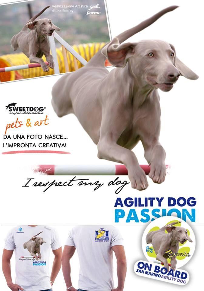 DOG: Bonnie (Weimaraner) - Personalized agility dog t-shirt