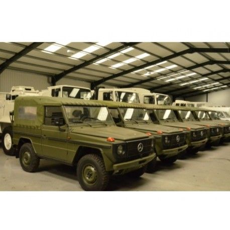 The Mercedes G Wagon GD 240 short wheel base soft top is used by both the Danish and German armed forces for light utility transport. Being Mercedes Benz these vehicles are of very high standard and this is reflected both in the build quality and the handling of the vehicle.