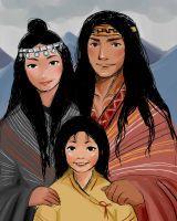 Familia mapuche/ Mapuche's family by NamistaiVanBuuren