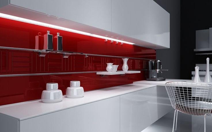 winding panels kitchen kitchen mirror modern high polish dark red knows
