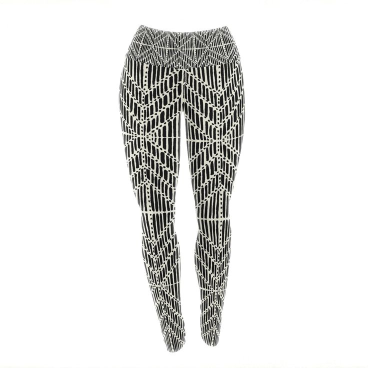 "DLKG Design ""Tribal Drawings"" Chevron Black Yoga Leggings from KESS InHouse"