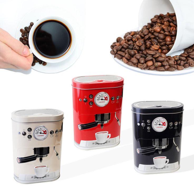 Designer #retro coffee #machine tin jar tea cake biscuit kitchen #storage holder,  View more on the LINK: http://www.zeppy.io/product/gb/2/371753442338/