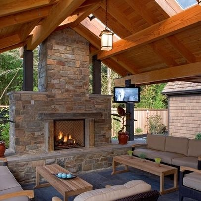 outdoor room with fireplace - Google Search