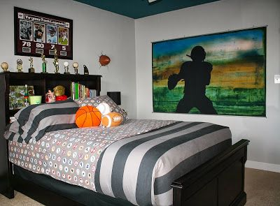 Bolling With 5: Tyson's NFL - College Football - Preteen Bedroom