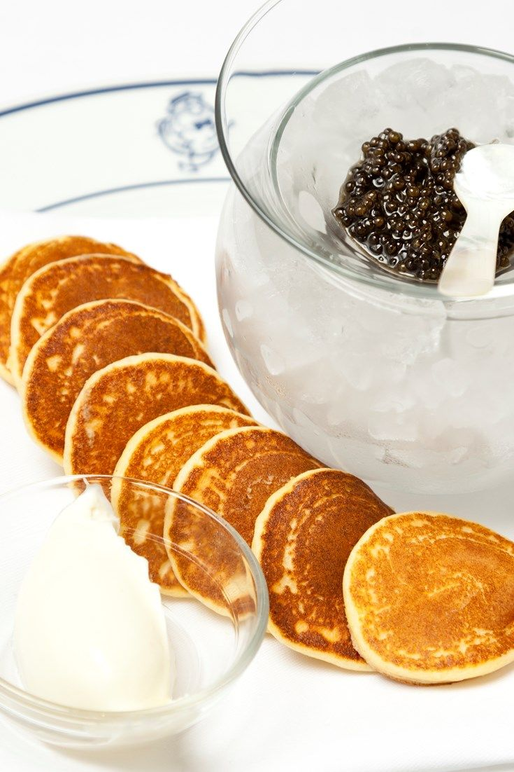 Richard Corrigan's easy blini recipe makes the perfect base for any canapé - in this case, luxurious ossetra caviar.