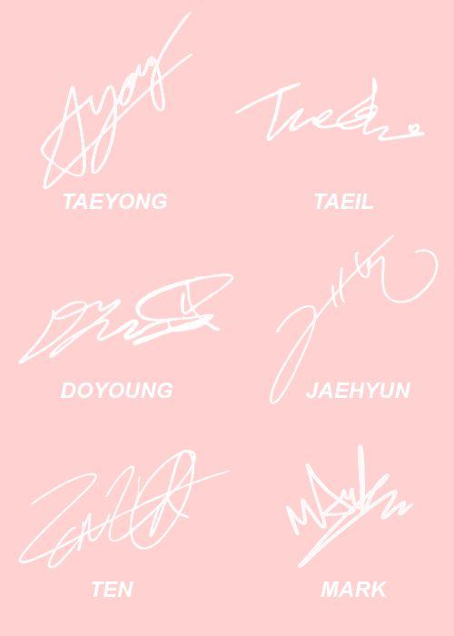 nct u taeyong | NCT U members' signatures