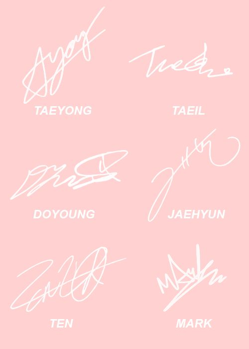 nct u taeyong | NCT U members' signatures