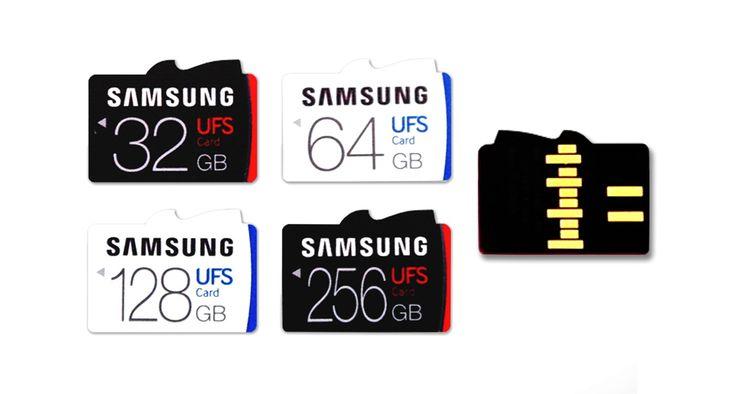 Samsung revela cartões de memória UFS ultra-rápidos