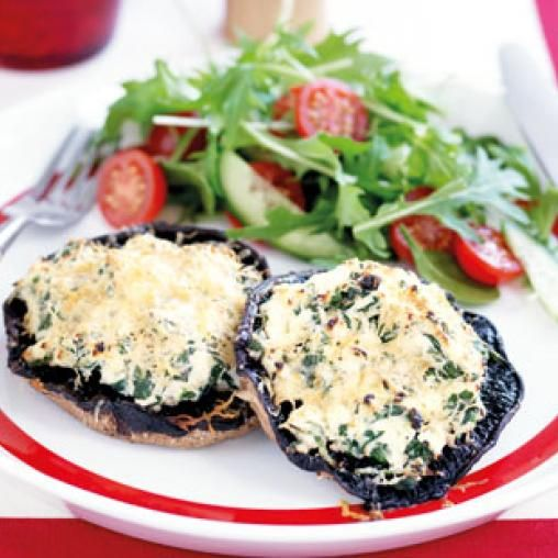 Spinach and ricotta baked mushrooms   Australian Healthy Food Guide