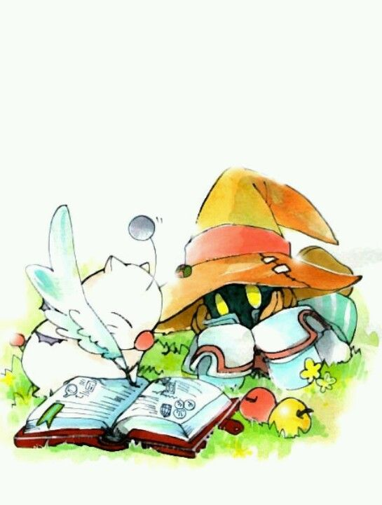 Vivi & Moogle add a chocobo in the background and this would be my perfect final fantasy tattoo!!!!