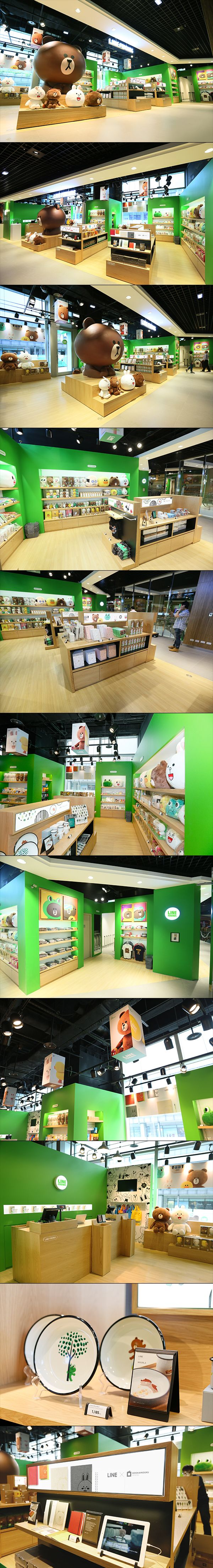 LINE FRIENDS Taipei store is Taiwan's first official store. The space is designed so that people can experience LINE FRIENDS not only as purchasable products but as characters displayed throughout the store, which incorporates collectible figure kit displ…